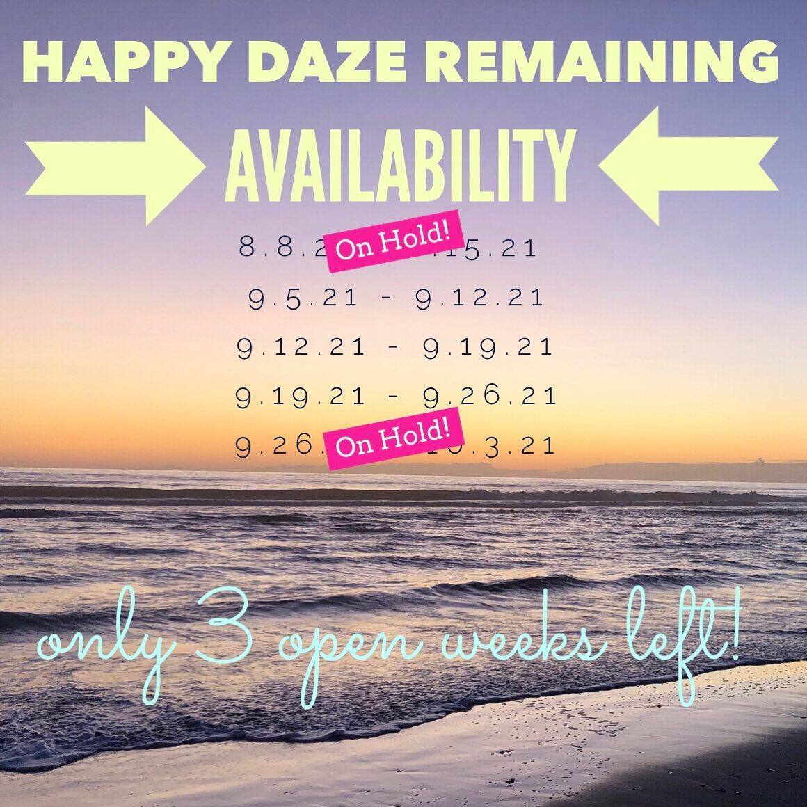 Remaining Availability 2021