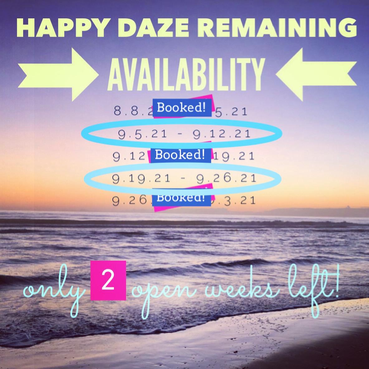 Happy Daze OBX Availability